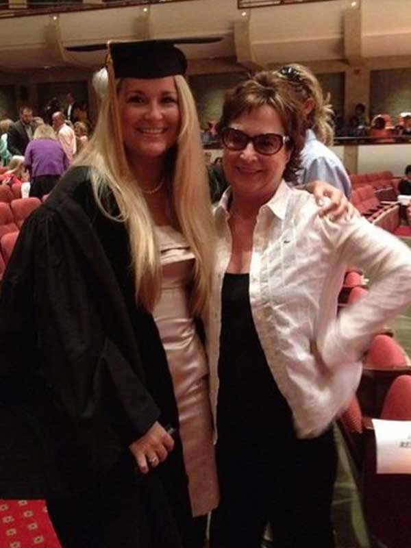 Dr. Long and her mom, Dr. Edwards, at Mary's graduation